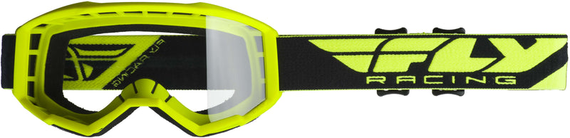 Fly Focus Hi-Vis Yellow/Clear Goggle - MC AUTO