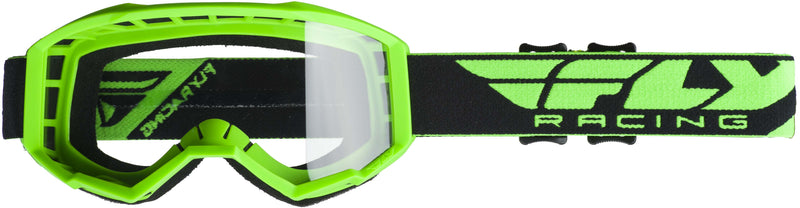 Fly Focus Green/Clear Goggle - MC AUTO