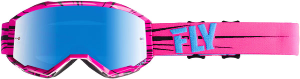 Fly Zone Pink/Teal/Sky Blue Mirror Goggle