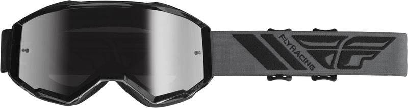 Fly Zone Black/Silver Mirror Goggle - MC AUTO