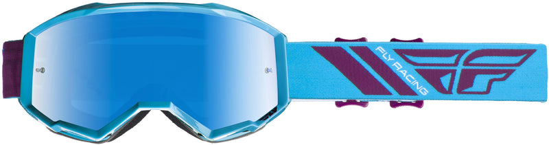 Fly Zone Blue/Port/Blue Mirror Goggle - MC AUTO