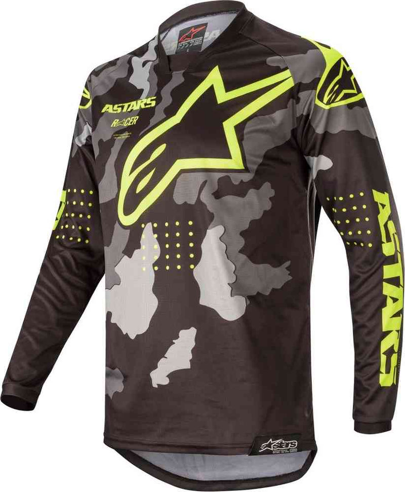 Alpinestars Tactical Racer Grey/Black/Yellow Jersey - MC AUTO
