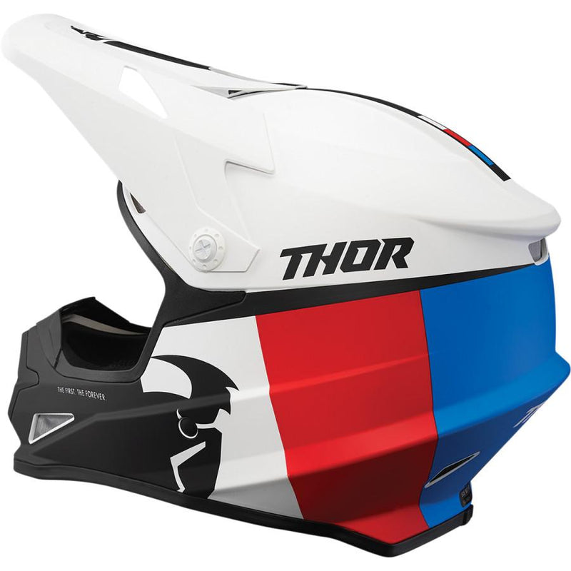 Thor Sector Racer White/Red/Blue Helmet - MC AUTO