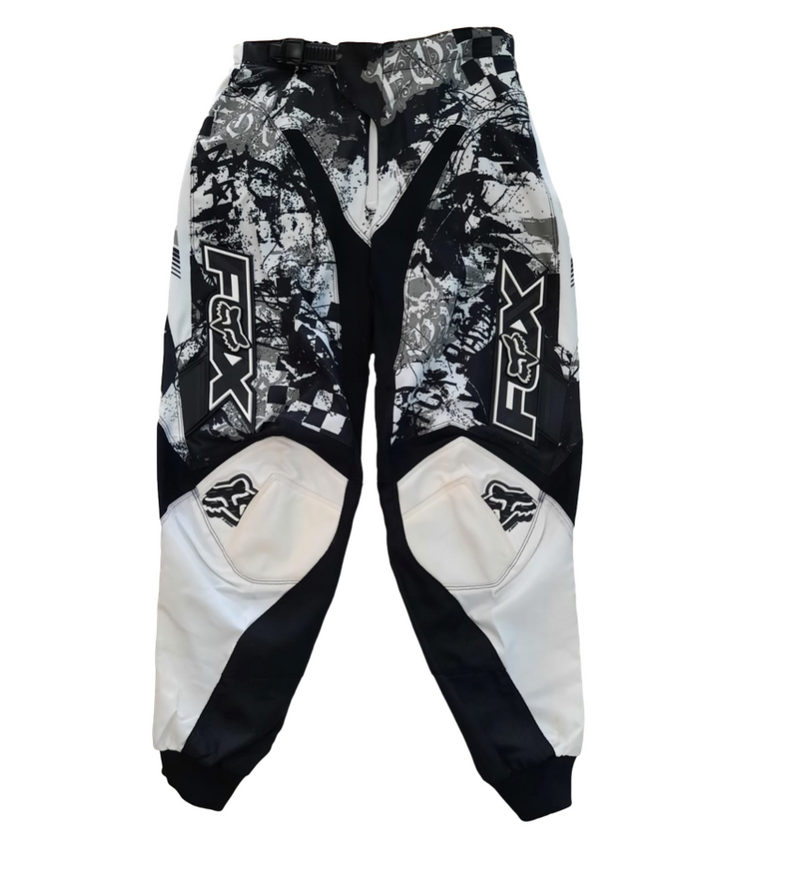 Fox 180 White Print Pants