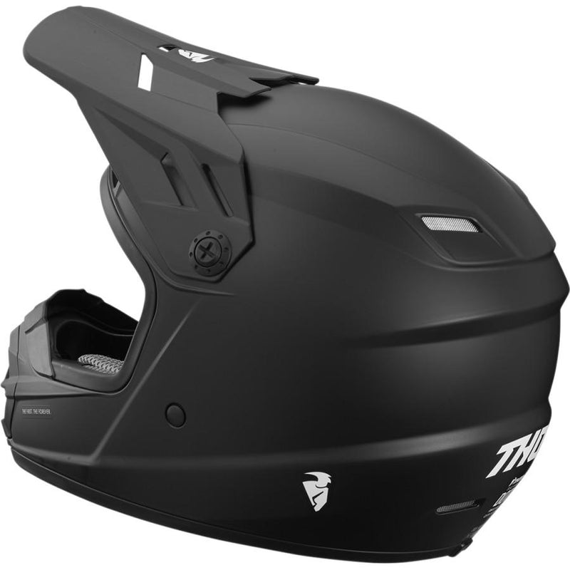 Thor Kids Sector Solid Black Helmet - MC AUTO
