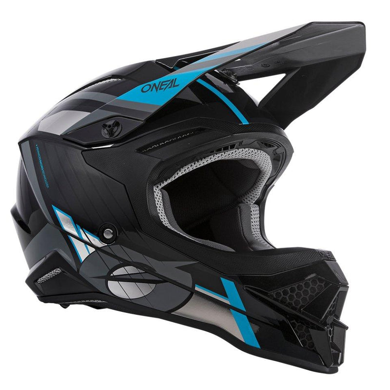 O'Neal 3 Series Vision Black/Grey/Blue Helmet - MC AUTO