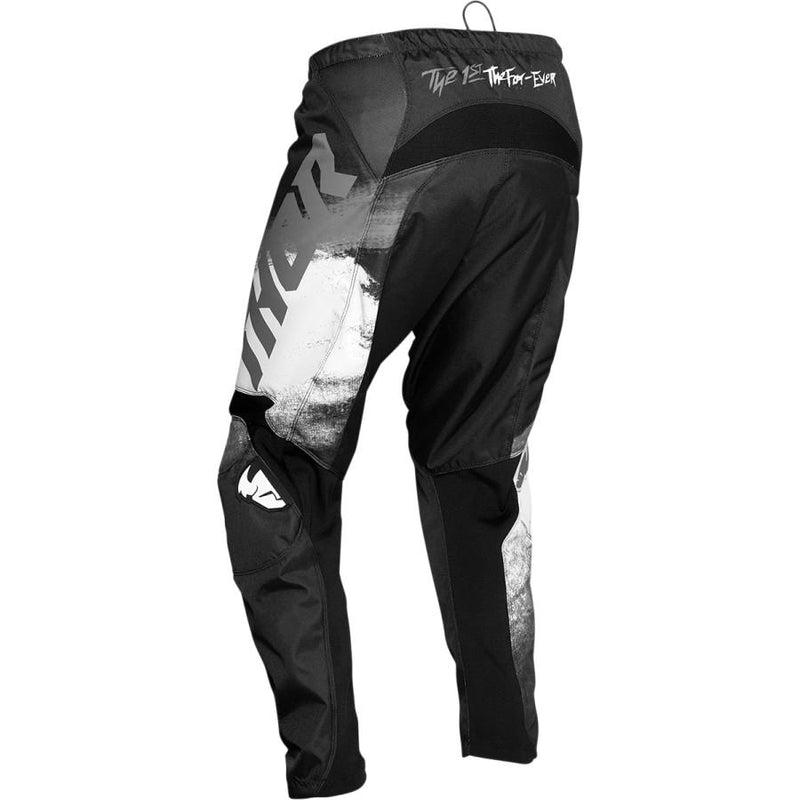 Thor Sector Vapor Black/White Pants - MC AUTO