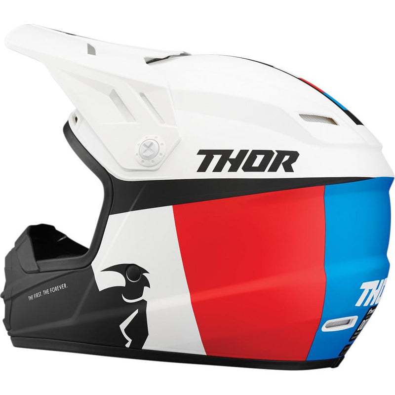 Thor Kids Sector Racer White/Red/Blue Helmet