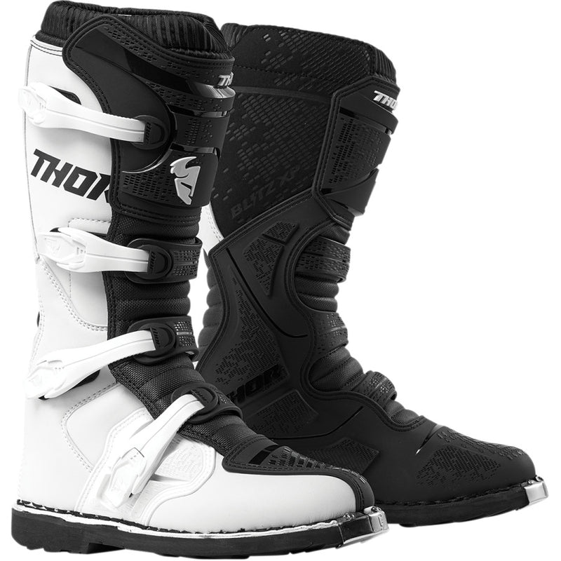 Thor Blitz XP White/Black Boots - MC AUTO