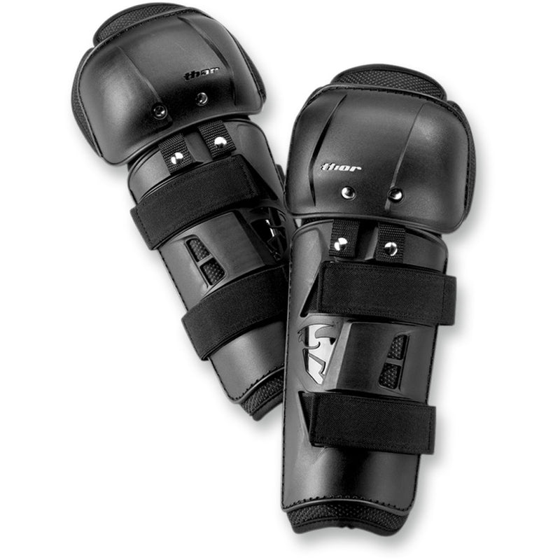 Thor Kids Sector Black Knee Guards - MC AUTO