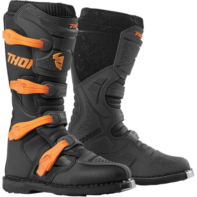 Thor Blitz XP Charcoal/Orange Boots - MC AUTO