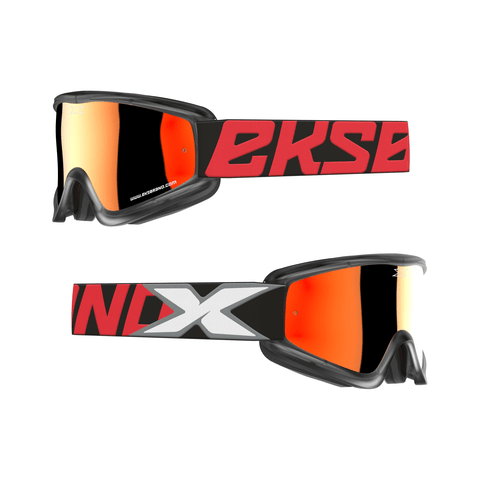 EKS Gox Flat Out Red/Black All Over Goggle - MC AUTO