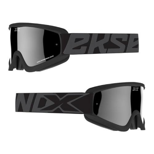 EKS Gox Flat-Out Black/Silver Goggle - MC AUTO