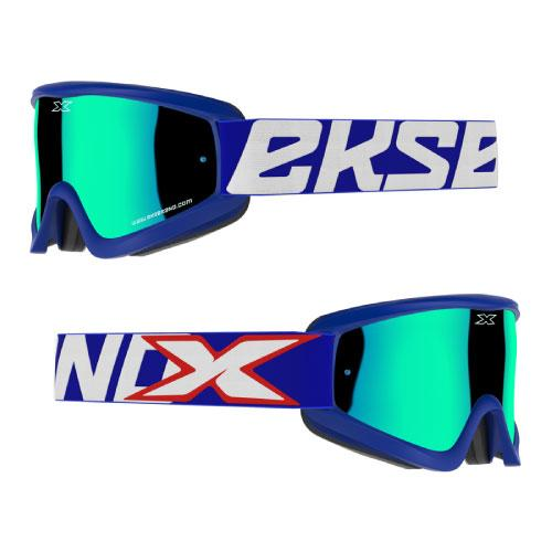 EKS Gox Flat-Out Blue/Red/White Goggle - MC AUTO