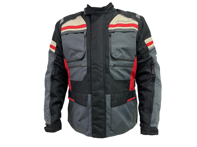 VMoto Belmont Grey Black Jacket - MC AUTO