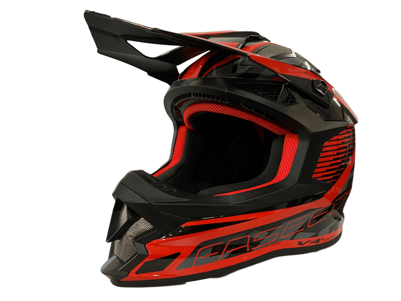 Faseed 609 Black/Red Helmet - MC AUTO