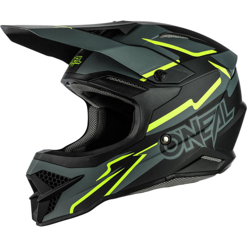 O'Neal 3 Series Voltage Black/Neon Yellow Helmet - MC AUTO