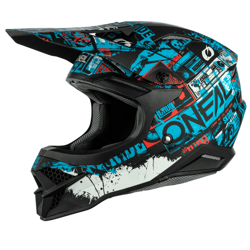 O'Neal 3 Series Ride Black/Blue Helmet - MC AUTO