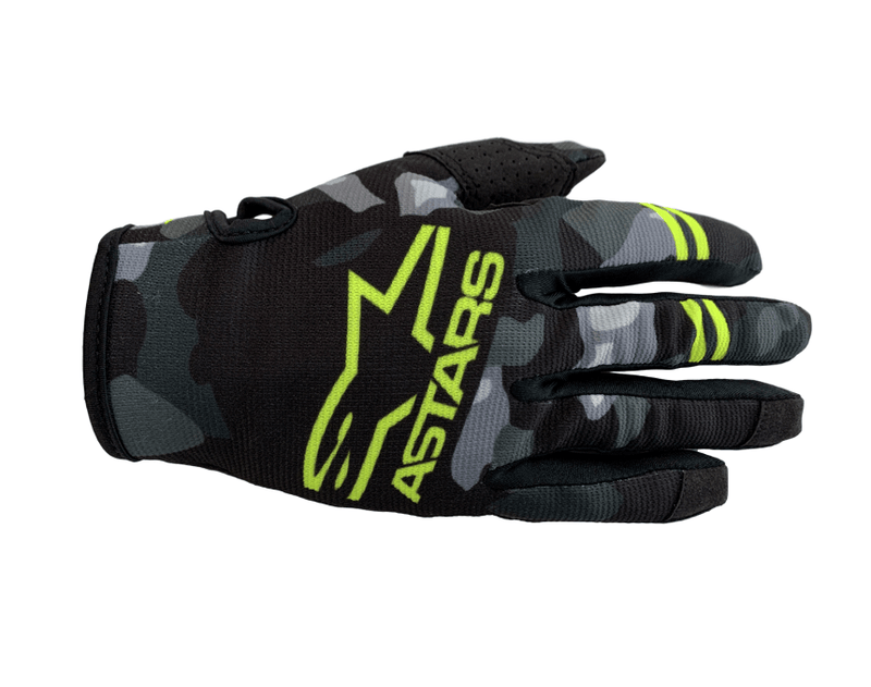 Alpinestars Radar Gray/Camo/Yellow Gloves - MC AUTO