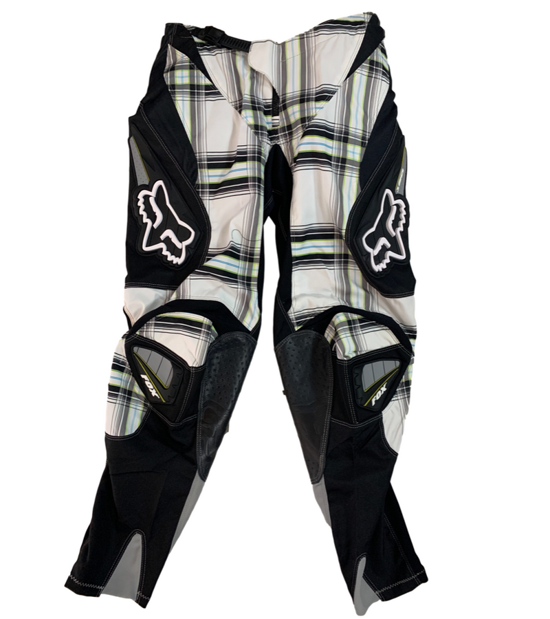 Fox 180 Plaid White Pants - MC AUTO