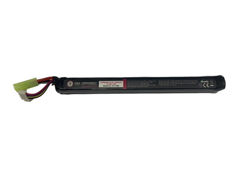 G&G G-11-080 1000mAh LiPO Battery - MC AUTO