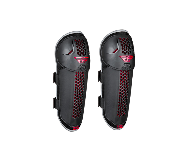 Fly Barricade Black/Red Knee Guards - MC AUTO