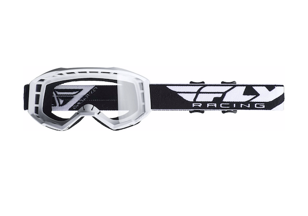 Fly Kids Focus White/Clear Goggle - MC AUTO