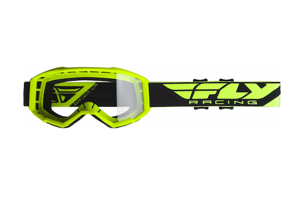 Fly Kids Focus Hi-Vis Yellow/Clear Goggle