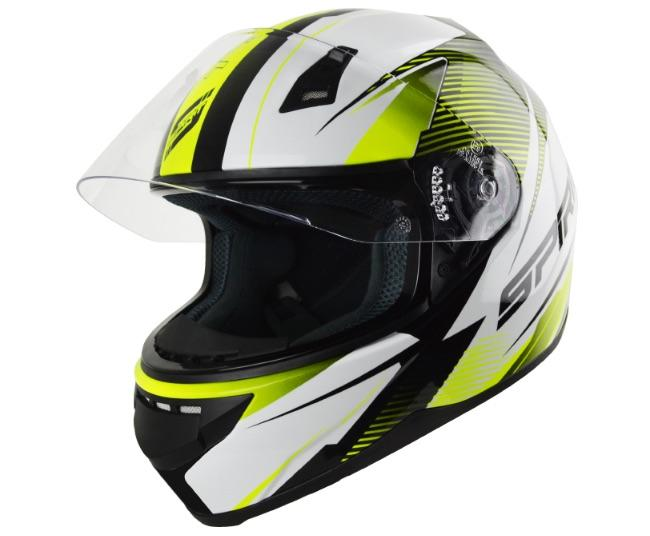 Spirit Tyro Flou Yellow Helmet - MC AUTO