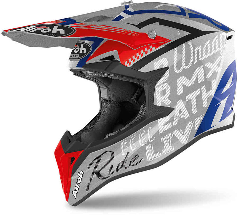 Airoh Wraap Grey Metal Gloss Street Helmet - MC AUTO