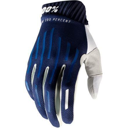 100% RideFit Navy Gloves - MC AUTO