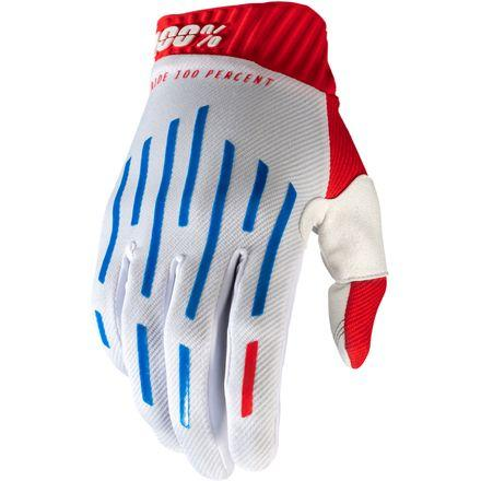 100% RideFit Red/White/Blue Gloves - MC AUTO