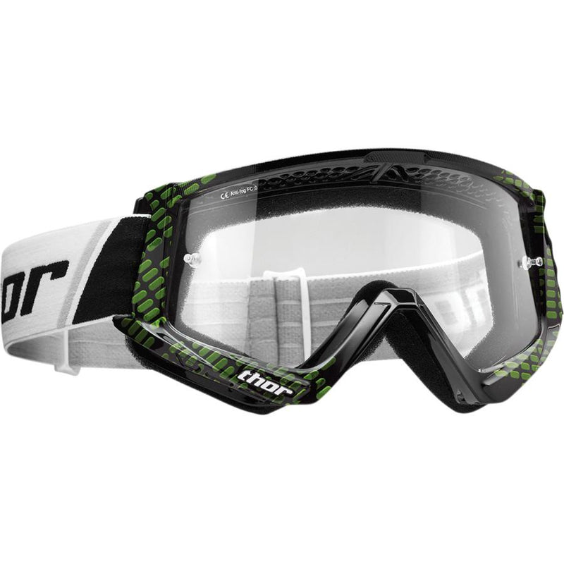 Thor Kids Combat Cap Black/Lime Goggle - MC AUTO