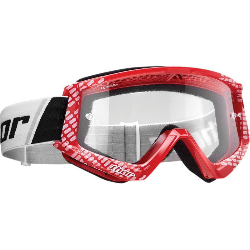 Thor Kids Combat Cap Red/White Goggle - MC AUTO