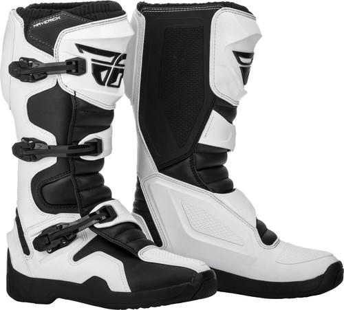 Fly Maverick White/Black Boots - MC AUTO
