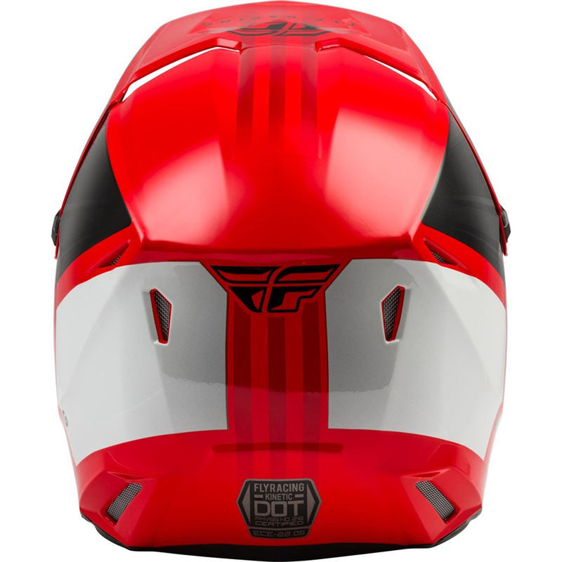 Fly Kinetic CW Red/Black/White Helmet - MC AUTO