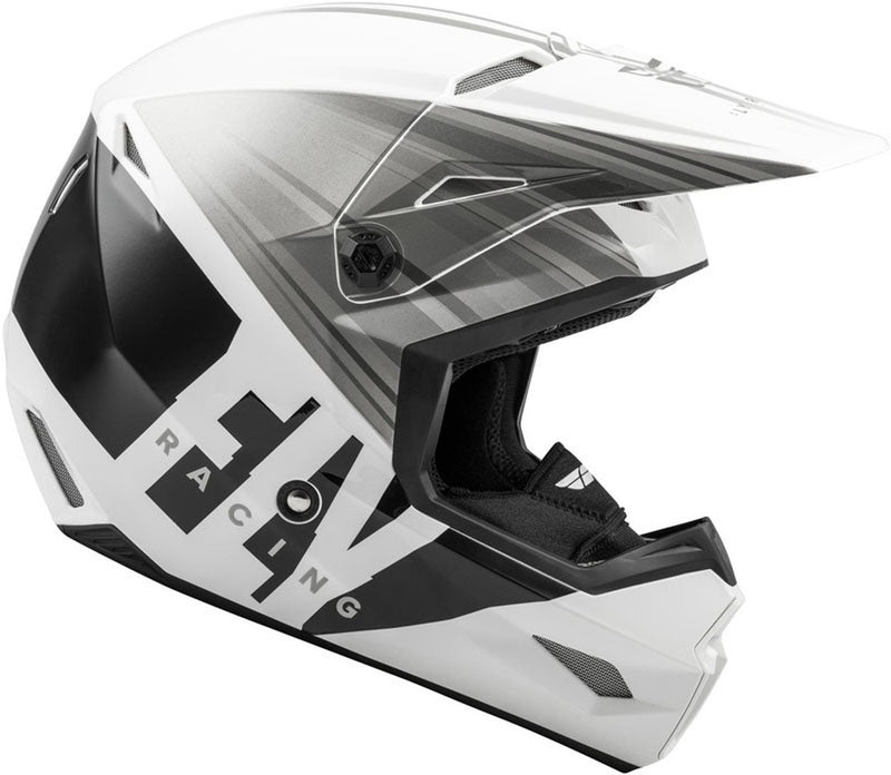 Fly Kinetic CW White/Grey/Black Helmet - MC AUTO