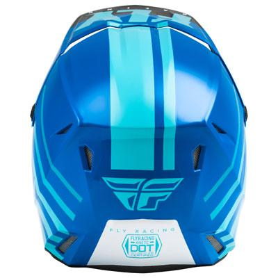 Fly Kinetic Thrive Blue/White Helmet - MC AUTO