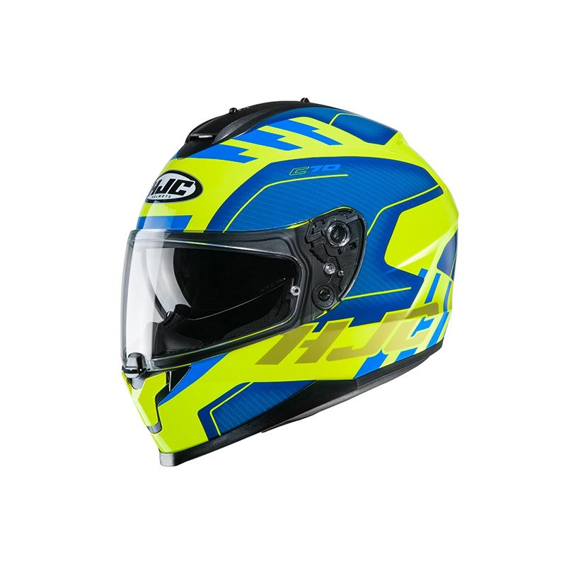 HJC C70 Koro Blue/Yellow Helmet - MC AUTO