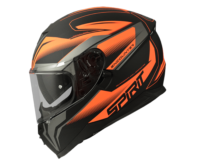 Spirit Encounter Hi-Viz Orange Helmet - MC AUTO