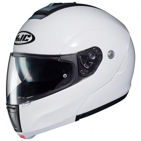 HJC C90 Pearl White Flip-Up Helmet - MC AUTO