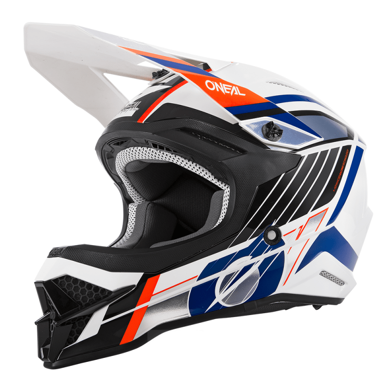O'Neal 3 Series Vision White/Black/Orange Helmet - MC AUTO