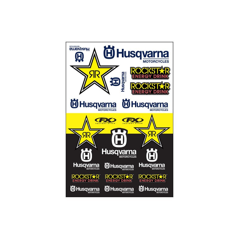 FX Husqvarna Racing Sticker Sheet - MC AUTO