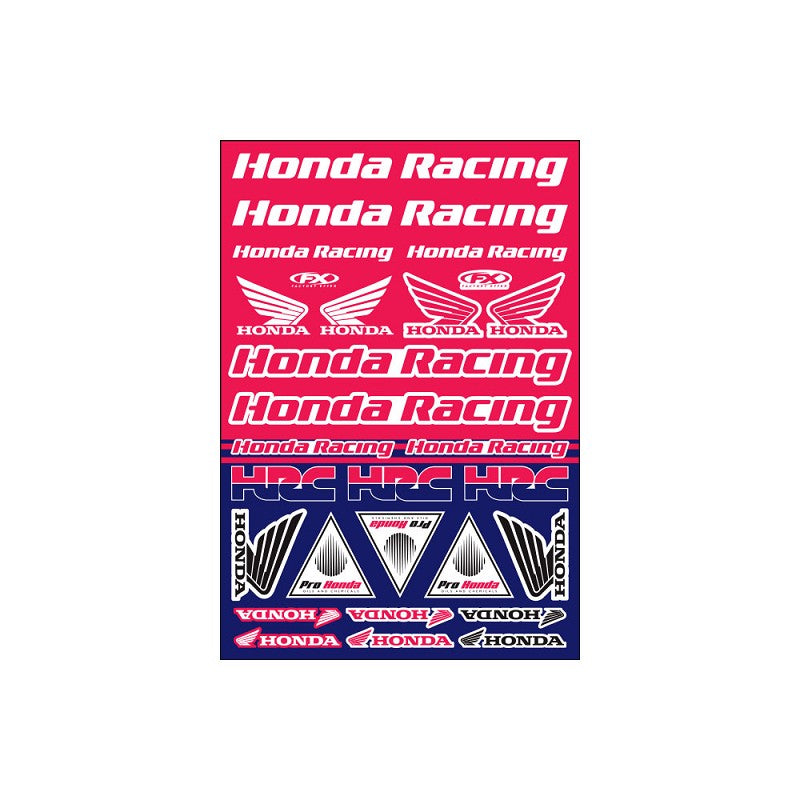 FX Honda Racing Sticker Sheet - MC AUTO