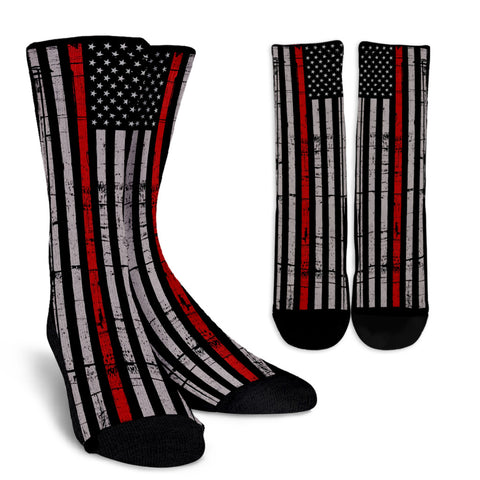THIN RED LINE STARS & STRIPES SOCKS