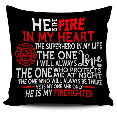 FIRE IN MY HEART - PILLOW COVER