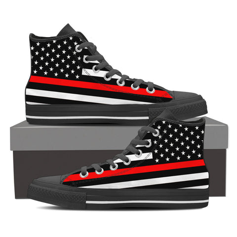THIN RED LINE AMERICAN FLAG SHOES HIGH TOP
