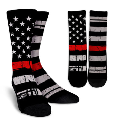 PAIRED THIN RED LINE STARS & STRIPES SOCKS