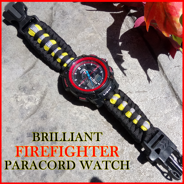 Brilliant Fire Fighter Paracord Watch