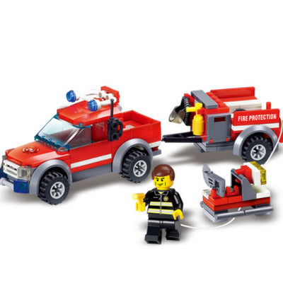 143pcs Firefighting Cew Building Blocks Educational Toys DIY Bricks Fire Assembled Toy Fire Truck Toys for Children